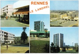 Carte Postale  35. Rennes Terrain De Basket-Ball   Cité HLM Et Bar Du Landrel Trés Beau Plan - Rennes