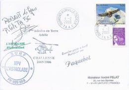 """TAAF - Dumont D'Urville-T.Adélie: Lettre """"L'Astrobale"""" Avec Timbres France N°3054 Parc Des Ecrins Et 3446 - 04/02/2006 - Terres Australes Et Antarctiques Françaises (TAAF)"""