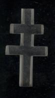 Croix De Lorraine Matière Plastique Transparente - 50 X 27 X 10 Mm - Insigne & Ordelinten
