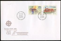 Europa CEPT 1990 Finlande - Finnland - Finland FDC Y&T N°1074 à 1075 - Michel N°1108 à 1109 - 1990