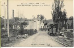 CHAZELLES SUR LYON  Usine électrique De La Gimond (vue Arrière De La Voiture L Du Tramway) - France