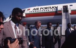 1997 PRESIDENTE PORTUGAL VISITA MOZAMBIQUE PLANE TAP AFRICA AFRIQUE 35mm PRESS DIAPOSITIVE SLIDE Not PHOTO No FOTO B4922 - Dias