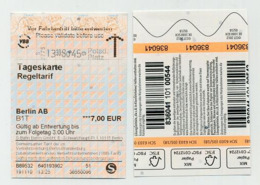 Transport Ticket. Tageskarte Regeltarif Berlin Zones A Et B 2019 Allemagne Germany Deutschland Tyskland - Metro