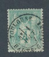 FRANCE - N°YT 63 OBLITERE CAD TOULOUSE - 1876 - 1876-1878 Sage (Typ I)