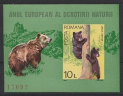 1980 Romania Animali Animals Animaux Orsi Bears Ours Imperforate MNH** Excellent Qualty Fo61 - Bears