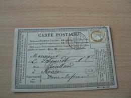 CP 162 /  CERES N° 55 SUR CARTE POSTALE - 1871-1875 Cérès