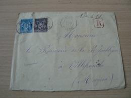 CP 163 /  SAGE N° 90/97 SUR LETTRE RECOMMANDEE - 1876-1898 Sage (Type II)