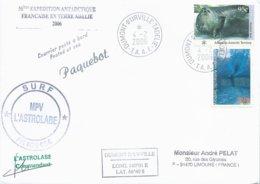 """TAAF - Dumont D'Urville-T.Adélie: Lettre """"L'Astrobale"""" Avec Timbres Austr. Antarctic Territory N°93 Et 108 - 04/02/2006 - Terres Australes Et Antarctiques Françaises (TAAF)"""