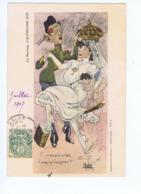 Le Mariage D' Alphonse XIII  - Satire Politique - F... Ce Bouquin En L'air, T'auras La Couronne - Illust.. E. Muller - Illustrators & Photographers