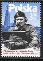 POLAND, 2019, MNH,WWII, LIBERATION OF BREDA BY THE SOLDIERS OF GENERL MACZEK,TANKS,1v - WW2