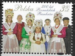 POLAND, 2019, MNH, COSTUMES, 300 YEARS OF THE POZNAN BAMBERS, 1v - Costumes