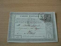 CP 163 /  SAGE N° 77  SUR CARTE POSTALE - 1876-1898 Sage (Type II)