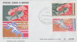 Enveloppe   FDC  1er  Jour   MAURITANIE   Année  Préolympique    Jeux  Olympiques   MONTREAL    1976 - Estate 1976: Montreal