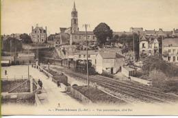 PONTCHÂTEAU Vue Panoramique Coté Est (locomotive 230 P.O. En Tête D'un Train De Voyageurs) - Pontchâteau