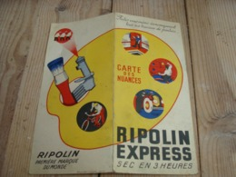 Ancien Nuancier De Couleurs Pub RIPOLIN EXPRESS - Advertising