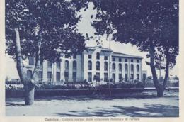 CATTOLICA-RIMINI-COLONIA MARINA DELLA GIOVENTù ITALIANA DI FERRARA-CARTOLINA VIAGGIATA 1940-1950-AFFRANCATURA DA LIRE 10 - Rimini