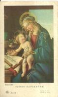 """5978 """"SEDES SAPIENTAE-BOTTICELLI-PADRE PIO DA PIETRELCINA A RICORDO DELLE SUE NOZZE D'ORO SACERDOTALI-10/8/910-10/8/960"""" - Santini"""