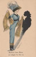 CPA Femme Lady Girl Mode Chapeau Boulevard St Martin Ombre Chinoise Coq  Illustrateur G. MOUTON (2 Scans) - Illustrateurs & Photographes