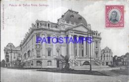 124140 CHILE SANTIAGO PALACIO DE BELLAS ARTES CIRCULATED TO BELGIUM POSTAL POSTCARD - Cile