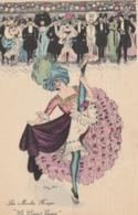 """CPA Femme Lady Girl """"Au Moulin Rouge"""" """"le Grand Ecart"""" Revue Danseuse  Illustrateur X. SAGER (2 Scans) - Sager, Xavier"""