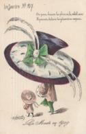 CPA Femme Lady Girl La Mode En 1909 Le Sourire N° 107 Chapeau Hat  Illustrateur ROBERTY (2 Scans) - Autres Illustrateurs