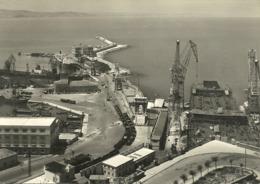 Ancona (Marche) Porto Con Scalo Ferroviario E Gru X Scarico Merci Dalle Navi, The Harbour, Le Port, Der Hafen - Ancona