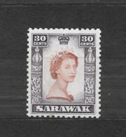 SARAWAK  N. 199/*- 1955  COLONIE INGLESI - Sarawak (...-1963)