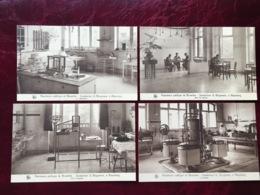 "ALSEMBERG-----4 Cpa--Sanatorium Brugmann""-Laboratoire-Cuisine-Salle D'examen&réunion-animée - Beersel"