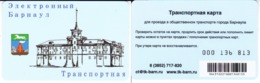 Transport  Card  Russia. Barnaul  2019 ( Altai  Region) - Russland