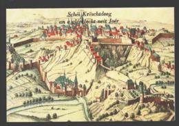 Luxembourg - Extrait De Ioannes Blaeu - Carte Double 17 X 11,5 Cm - Schei Krëschtdeeg An E Glecklet Neit Joer - Luxemburgo - Ciudad