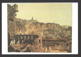 Luxembourg - Vue Sur La Ville Haute, Les Fortifications Du Bock, Partie Du Faubourg Du Grund - Carte Double 17 X 11,5 Cm - Luxemburg - Town