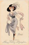 """CPA Aquarellée Femme Lady Girl """"Aux Folies Bergères"""" Viennoise M.M. VIenne N° 480 M. MUNK Illustrateur (2 Scans) - Illustrateurs & Photographes"""