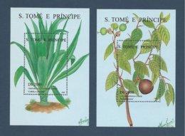 Saint Thomas SAO TOME AND PRINCIPE 1996 Yv. Blocs 163AJ ** + 163Ak **  Plantes Medicinales Crinum Jacus Oncoba Apinosa - São Tomé Und Príncipe
