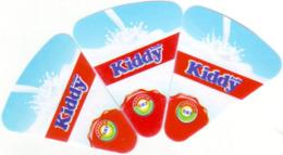"""Algérie - 3 étiquettes De Fromage """"Kiddy""""  Et Non """"Petit Kiddy"""" (voir 2ème Scan) - Fromage"""