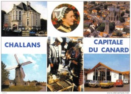 Carte Postale 85. Challans  Capitale Du Canard Renault 4L Très Beau Plan - Challans
