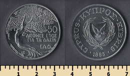 Cyprus 50 Cents 1985 - Cyprus