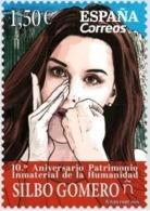 ESPAGNE SPANIEN SPAIN ESPAÑA 2019 10º ANIV HUMAN HERITAGE CANARIAN GOMERO WHISTLE SILBO MNH ED 5361 YT 5107 MI 5404 - 2011-... Unused Stamps