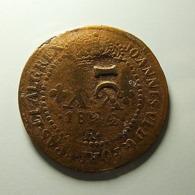 Brazil 10 Reis On XX Reis 1822 R Varnished - Brasile