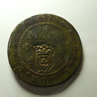 Portuguese Angola 1/2 Macuta 1770 With Countermark Varnished - Portugal