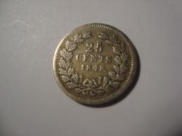 MONNAIE PAYS BAS 25 CENTS 1848 - [ 3] 1815-… : Regno Dei Paesi Bassi