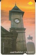 TURKEY - Clock Towers/Kayseri(30 Units), 06/99, Used - Turchia