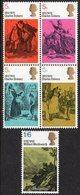 GREAT BRITAIN, 1970 LITERARY ANNIVERSARIES 5 MNH - 1952-.... (Elizabeth II)