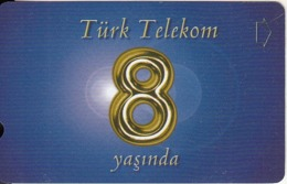 TURKEY - 8th Anniversary Of Turk Telecom(30 Units), 04/03, Used - Turchia