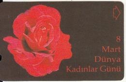 TURKEY - Rose, World Women's Day(30 Units), 02/03, Used - Turchia