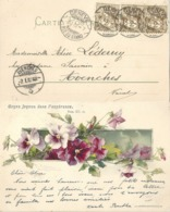 """AK  """"Klein - Soyez Joyeux Dans L'espérance""""  (Rasierklingenstempel)        1902 - Lettres & Documents"""