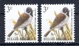 BUZIN  Papier + Kleur Variaties * Nr 2425 * Helder + Dof Wit Papier * Postfris Xx * - 1985-.. Birds (Buzin)