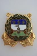 Compagnie D'Infanterie Colonial De Guadeloupe - Drago Vers 1940 Doré Et Non évidé - 1175 - - Landmacht
