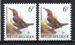 BUZIN  Papier + Kleur Variaties * Nr 2459 * Helder + Dof Wit Papier * Postfris Xx * - 1985-.. Birds (Buzin)