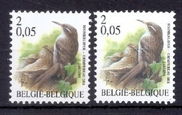 BUZIN  Papier + Kleur Variaties * Nr 2919 * Helder + Dof Fluor Papier * Postfris Xx * - 1985-.. Birds (Buzin)