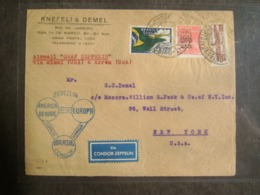 BRAZIL - LETTER SENT BY ZEPPELIN FROM RIO DE JANEIRO TO NEW YORK VIA MIAMI (USA) IN OCTOBER 1933 IN THE STATE - Zeppeline